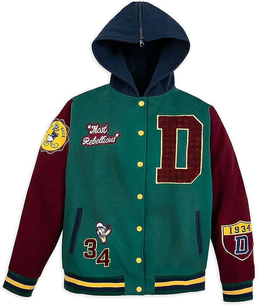 Disney Donald Duck Letterman Hooded Jacket for Men