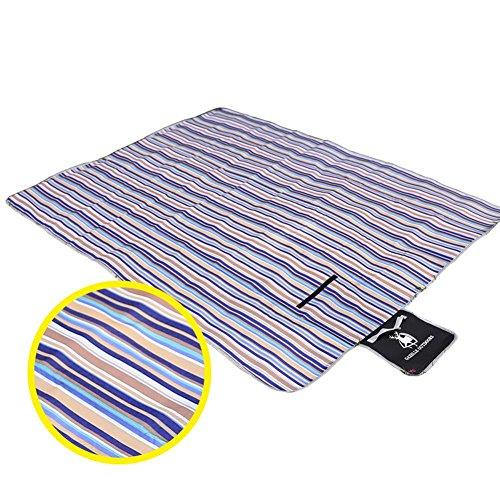 Axjzh Couverture de Camping Double Oxford Picnic Pad Imperméable à l'humidité Tapis 200 * 150cm, Purple