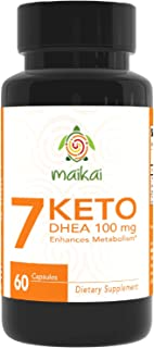 7 Keto DHEA 100mg Burn Pills - Weight Loss Supplements to Burn Fat Fast - Enhances Metabolism and Promotes Weight Loss - Ketosis Supplement for Women and Men (60)