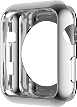 Hankn for Apple Watch Case 42mm Silver, Soft TPU Plated Cover Scratch-Resistant Protective Bumper for Apple Iwatch Series 2 Series 3 Sport Edition (Silver, 42mm)