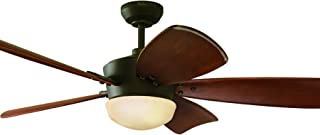 Harbor Breeze Platinum Series 60-in Oil-rubbed Bronze Downrod Mount Ceiling Fan with Light Kit and Remote
