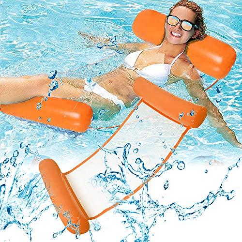 フロート 大人用 浮き輪 水上ハンモック 130CM*70CM 浮き輪ベッド ビーチボード 強い浮力 フロートベッド 夏対策 海遊び 水遊び プール 海水浴 メッシュ素材