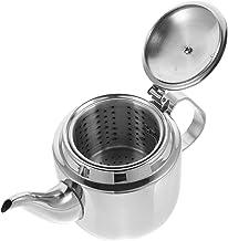 BESTonZON Czajnik do herbaty ze stali nierdzewnej, czajnik elektryczny, łabędzia szyja, filtr, dzbanek do herbaty, uchwyt,...
