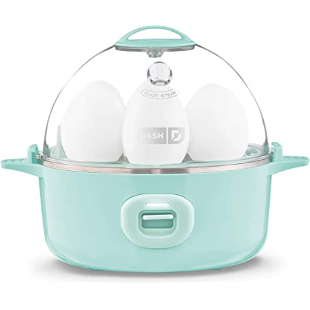 DASH Express Electric Egg Cooker 7 Capacity for Hard Boiled, Poached, Scrambled, or Omelets, with Auto Shut Off Feature, 360-Watt, Aqua