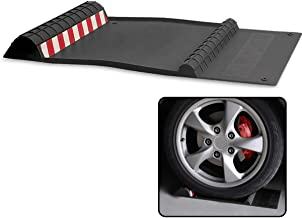 VaygWay Garage Parking Mat Assist-Car Right Floor Rubber Mat- Parking Assistance Black Reflective Strip- Tape Mounts Mat- Snow Dirt Mud Drip Tray
