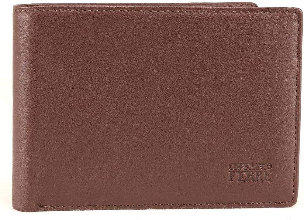 gianfranco ferrè portafoglio porta carte di credito per uomo in vera pelle 021 024 015 007
