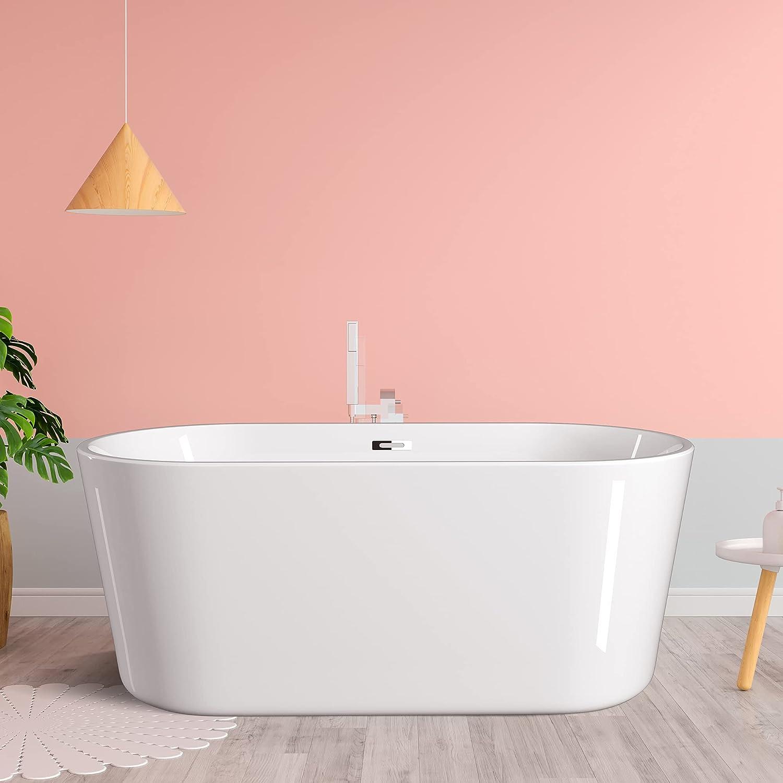 GETPRO 70 Inch Freestanding Bathtub Tub Soaking Cert Modern gift CUPC Over item handling