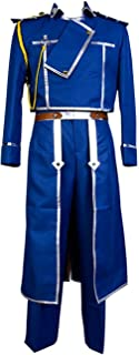 Fullmetal Alchemist Colonel Roy Mustang Military Uniform Cosplay Costume