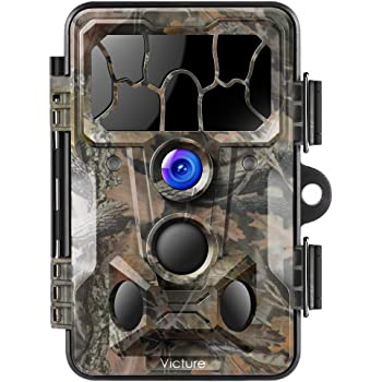 Victure Wildlife Trail Camera 20MP 1080P Full HD with Infrared Night Vision 130°Wide Angle Motion Activated for Outdoor Nature Garden Home Security Surveillance
