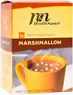 HealthSmart - High Protein Diet Hot Chocolate - Classic with Marshmallows - Instant Weight Loss Hot Cocoa Mix - 15g Protein - Low Sugar - Low Carb - Low Calorie - Aspartame Free (7/Box)