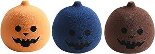 YSJJUSZ Jajko do makijażu 3 szt. nielateksowe puff miękka gąbka Halloween dynia puff mini mokre i suche narzędzie kształt ...