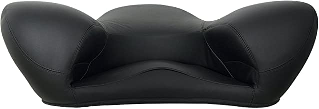 Alexia Meditation Seat Ergonomically Correct for The Human Physiology Zen Yoga Chair (Black, Genuine Leather)