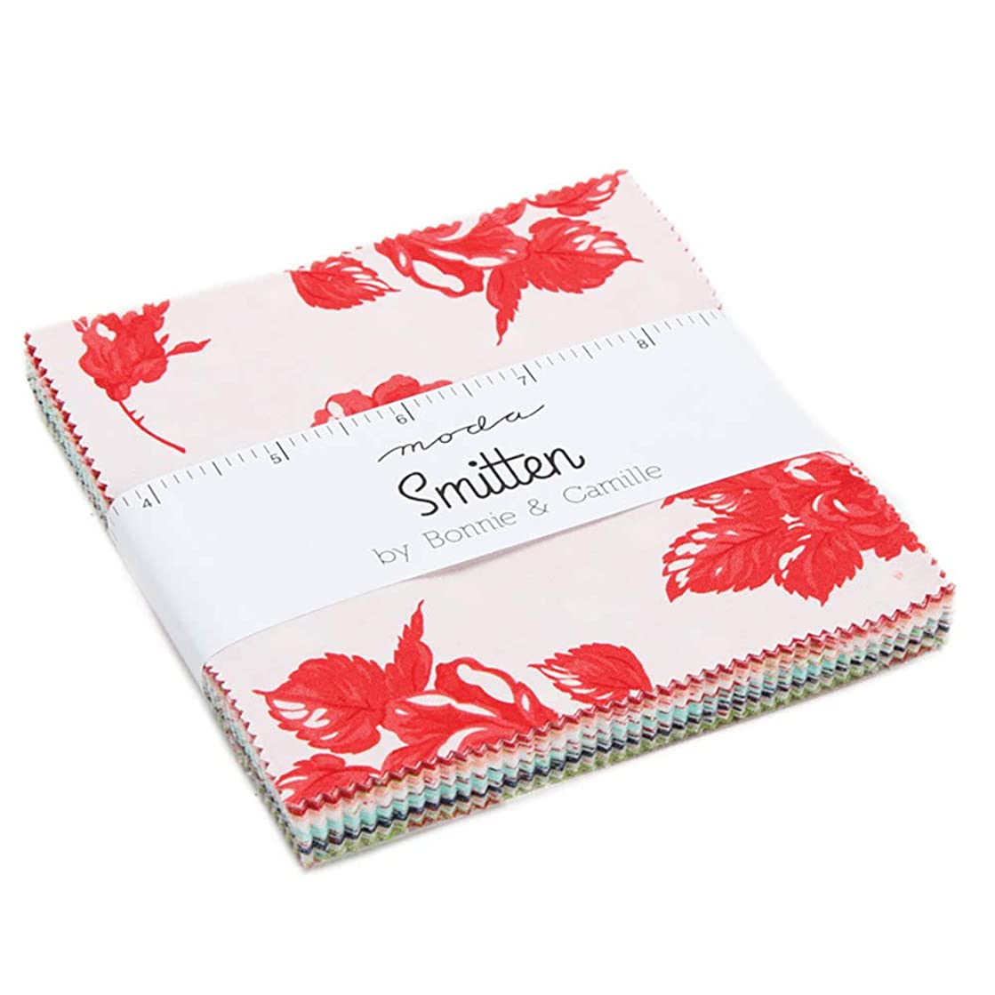 Smitten Charm Pack by Bonnie & Camille; 42-5 Inch Precut Fabric Quilt Squares