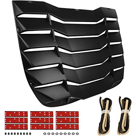 OCPTY Rear Window Louver Windshield Sun Shade Cover Black Compatible With 2003 2004 2005 2006 2007 2008 for Nissan 350Z