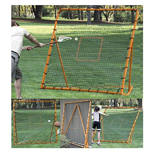 EZGoal Pro Lacrosse Folding Throwback Rebounder, Orange, 6'X6', 87091