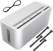 Ertisa Câble Boîte de Rangement, Organisateur de câbles, Boîte de Rangement, Cache-câble pour Câble Ordinateur TV, Multipr...