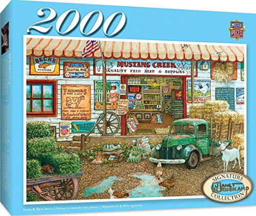 MasterPieces Signature Series, Jigsaw Puzzle, Farm & Fleet Store, Featuring Art by Janet Kruskamp, 2000 Pieces