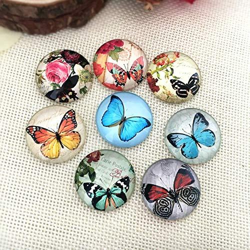 Wohlstand 100 Stück Gemischte Farbe Bunt Runde Mosaik Kuppel Glas cabochons für DIY Handwerk Schmuck Machen 12mm