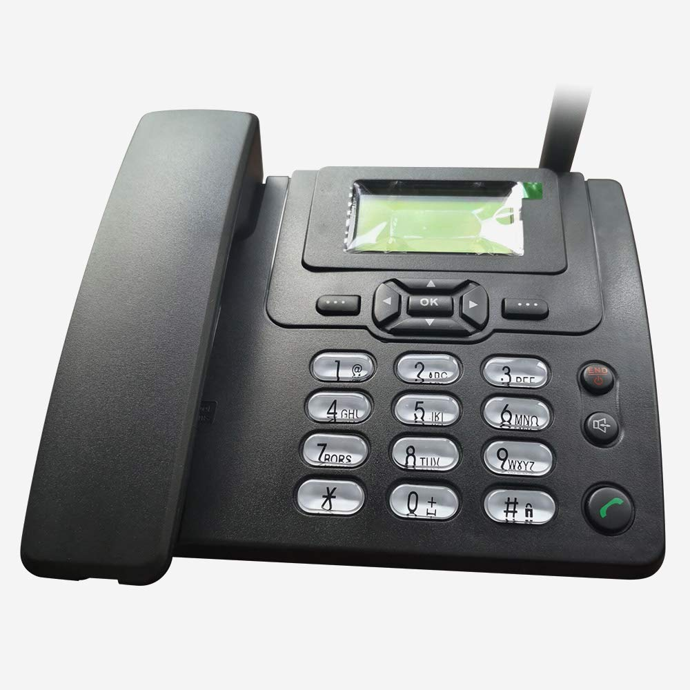 Lychee Wireless SIM Card gsm Classic Deskphone Teléfono de Escritorio Teléfono SMS Función para Empresas o familias (Especialmente para Personas Mayores): Amazon.es: Electrónica