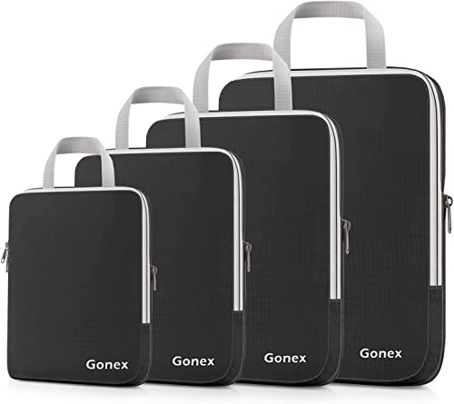 Gonex Extensible Packing Cubes 4 sets (Black)