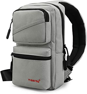 Sling Backpack Small Crossbody Shoulder Bag One Strap Anti-Theft Padded Water Resistant Chest Bag