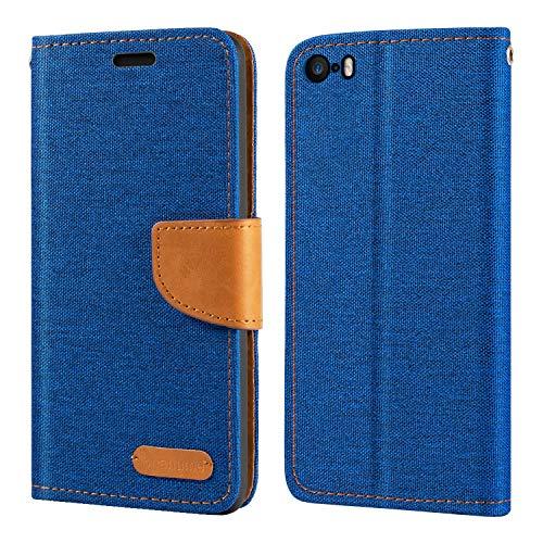 Funda para iPhone 5, funda tipo cartera de piel Oxford con tapa...
