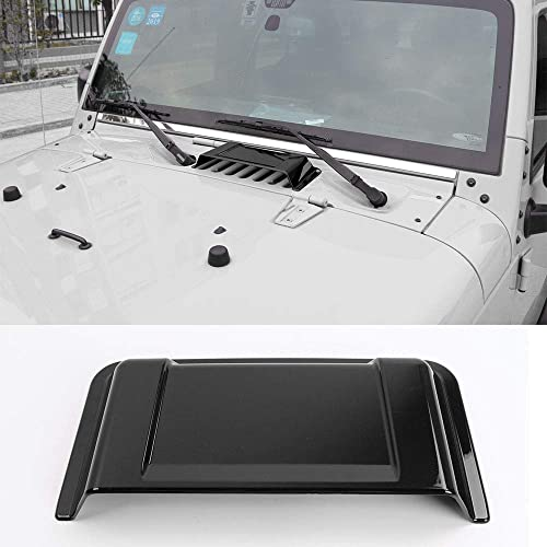 JeCar Hood Vent Hood Scoop Vent Cover for 1997-2017 Jeep Wrangler TJ JK Unlimited (Black)
