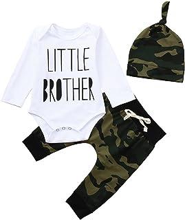 Newborn Toddler Baby Boys Carta Mameluco Overol De Pantalones De Camuflaje Looks Set Plus Flotante Brazo Manga Larga
