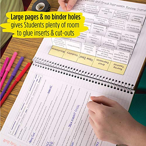 """Five Star Interactive Notetaking, 1 Subject, College Ruled Spiral Notebooks, 100 Sheets, 11"""" x 8-1/2"""", 3 Pack (38581) Photo #8"""
