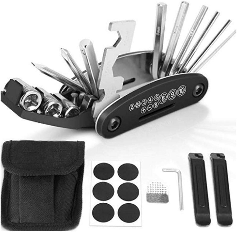 9910815c8a68 Bicycle Repair Kit 16in1 Folding Car, Tire Repair Kit Portable ...