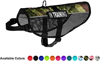 Dogline MaxAire Vest in Training Removable Patch Adjustable Harness Reflective for Puppies Small Medium and Large Dogs 17 ...