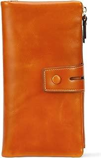 AINIMOER Wallets for Womens Big RFID Blocking Large Genuine Leather Clutch Zip Wallet Card Holder Organizer Ladies Purse