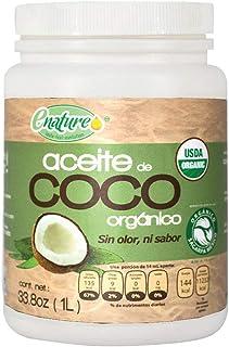 Enature Aceite de Coco Orgánico Sin Olor ni Sabor, 1 l