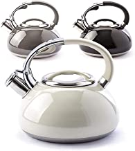 Wasserkessel 1L Teekessel Wasserkocher Induktion Retro Weiß