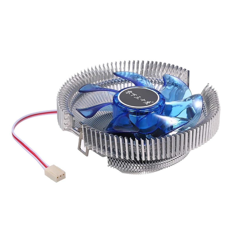 Grborn Hydraulic CPU Cooler Heatpipe Fans Quiet Heatsink Radiator for Intel Core AMD Sempron Platform with Blue Light tqqrvog899