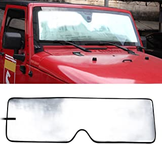 Best 2017 jeep wrangler windshield sun shade Reviews