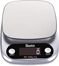 Rophie Digital Kitchen Scale 10kg Kitchen Weighing Food Scale for Baking Cooking