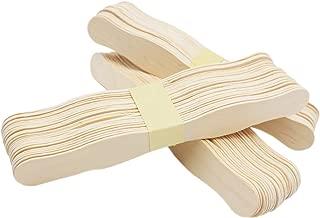 200 pcs Natural Wavy Jumbo Wood Fan Wooden Handles Wedding Fan Sticks Fan Craft Sticks 8 Inch Length