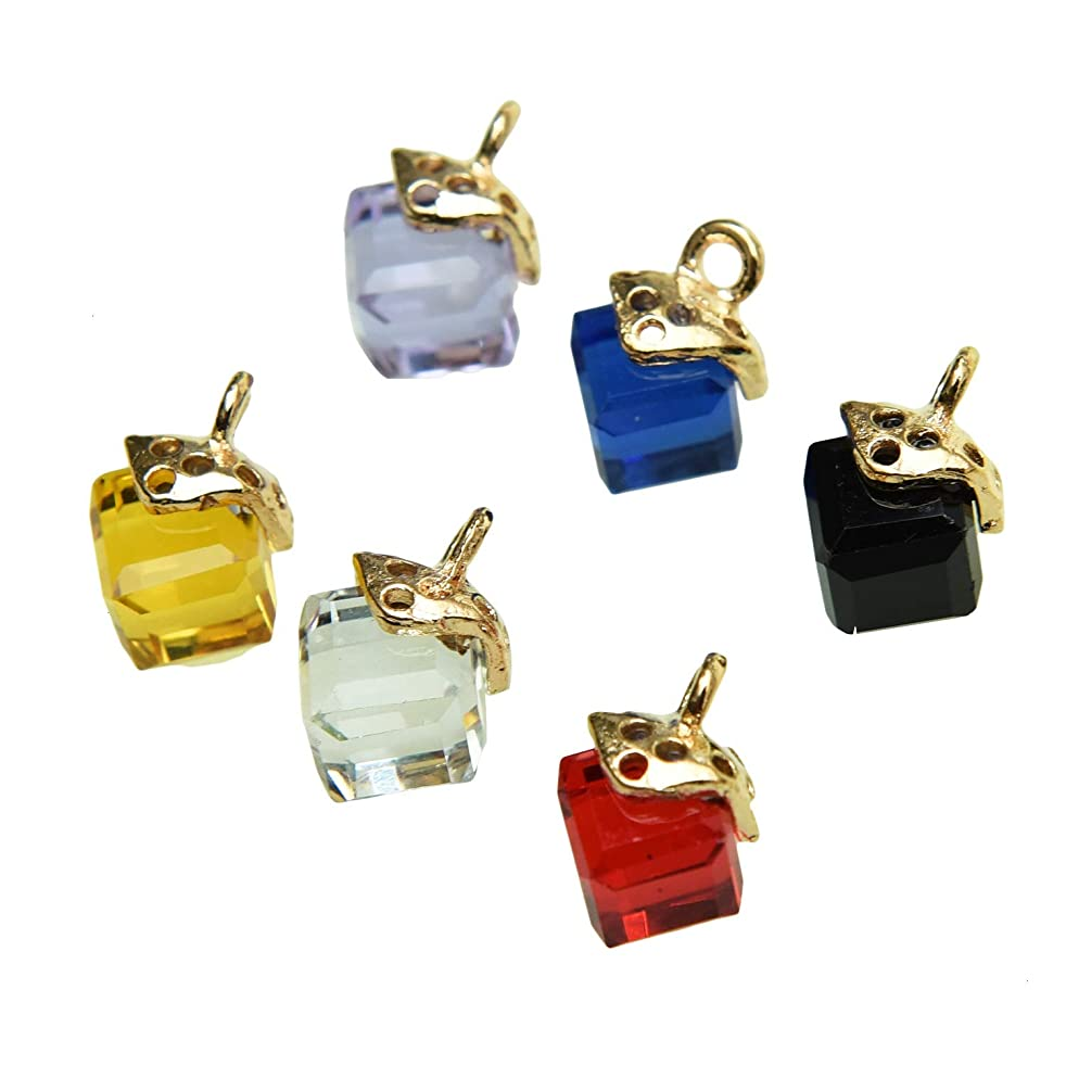Monrocco 30 Pcs Cubic Crystal Rhinestone Pendant Charms Assorted Enamel Charm Pendant for Jewelry Making Necklace Earring Accessory