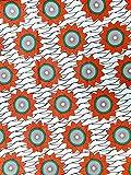 100/% cotone di alta qualit/à confezione da 5,5m x 1,2m 6 Yard ankara superwax tessuto Tessuti wax Africani facile da cucire per realizzare tessuti e decorazioni stile africano