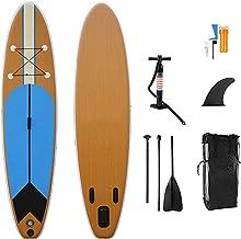 Opblaasbare SUP, Beginner Paddle Board met duurzame SUP accessoires en draagtas, verstelbare peddel, voor plezier in rivie...