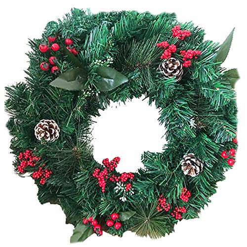 COOFIT Kerst Krans Kunstmatige Dubbele Lagen Deur Krans Hangende Krans voor Kerstmis
