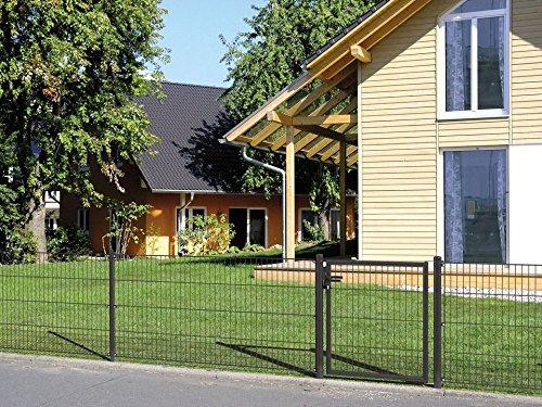 GAH ALBERTS Zaun-Einzeltür »Einzelstabmatte grün« (in 3 Höhen) 75 cm x 100 cm, Breite: 100 cm