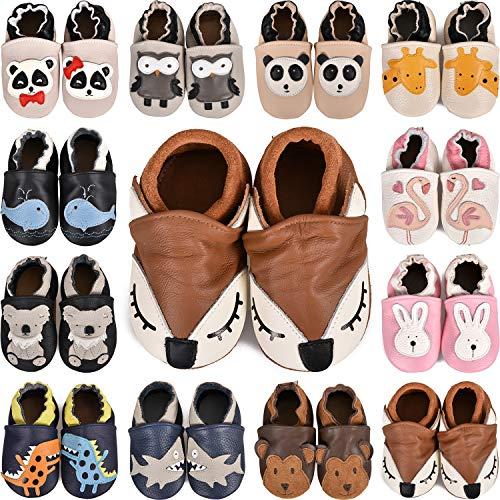 Zapatos de Cuero Suave para bebés Sandalias para niños y