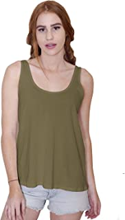 The Made in USA Sparrow Scoop Neck Flowy Tank in Non-GMO Organic Cotton