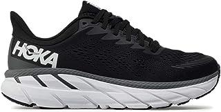 Men's Clifton 7 Running Shoes Black/White 8.5