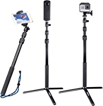 Smatree Telescoping Selfie Stick Compatible for GoPro Hero Fusion/8/7/6/5/4/3+/3/Session/GOPRO Hero(2018)/DJI OSMO Action Camera/Ricoh Theta S/V/Samsung Gear360/YI 4K/OSMO Mobile 2 and Cellphones