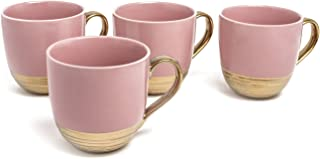 Set of 6 Yedi Houseware Bone China Collection Cup and Saucer 4 oz
