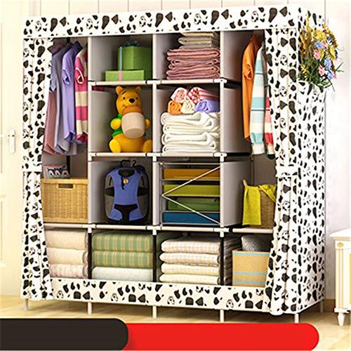 SFBBAO Armario Dormitorio Mueble De Almacenamiento De Tela De Tela DIY Montaje Refuerzo De Instalación Fácil 170 * 167 * 45cm Blanco
