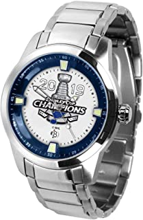 Game Time Mens 2019 Champions St Louis Blues Watch Stainless Steel Titan Watch